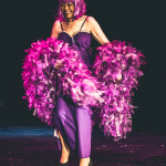 Toni Elling performing at the 2015 Burlesque Hall of Fame Titans of Tease Reunion Showcase.