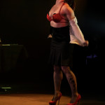 Trillian performing at the 2014 New York Burlesque Festival Golden Pastie awards burlesque show