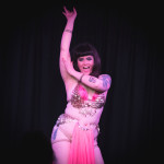 Tuesday Laveau performing at burlesque show Warrior Women presented by Coochie Crunch in Bristol, UK.