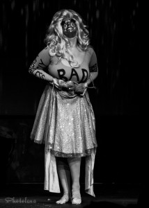 Üla Überbusen performing at the New York Burlesque Festival 2015 Sunday night Golden Pasties awards show at Highline Ballroom.