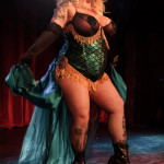 Velocity Chyaldd performing at the 2014 New York Burlesque Festival
