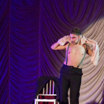 Vince V. Vice performing at the 2015 Great Burlesque Exposition 9, The Main Event.