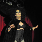Vinsantos Defonte performing at New Orleans burlesque show Dirty Dime Peep Show January 17, 2015 at the Allways Lounge.