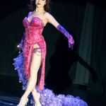 Violet Eva performing at the Burlesque Hall of Fame 2016 Saturday night Miss Exotic World Tournament of Tease.