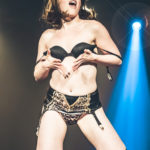 Violet X performing at the Bad Girls of History burlesque show in Toronto.