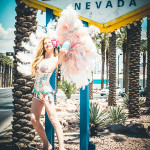 Violetta Beretta modeling for the Burlesque Hall of Fame Weekend 2015 Pinup Photo Safari in Las Vegas, Nevada.