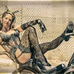 Violetta Beretta on the 2016 Burlesque Hall of Fame pinup photo safari in Las Vegas.