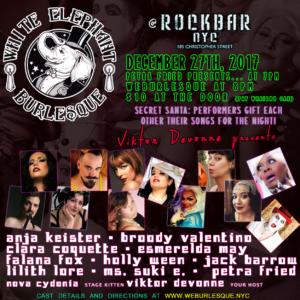 White Elephant Burlesque: Secret Santa @ Rockbar NYC | New York | New York | United States