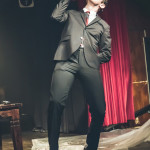 Willy Wonder performing at Peepshow TO's Twin Peaks Burlesque: Fire Strip With Me, in Toronto