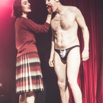 Willy Wonder and Loretta Jean performing at Peepshow TO's Twin Peaks Burlesque: Fire Strip With Me, in Toronto