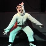 Zoe Ziegfeld performing at the Hollaback Girls Benefit Burlesque Show