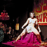 Zoe Ziegfeld performing at Bushwick Burlesque 4 year anniversary show at Bizarre Bushwick