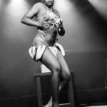 Zyra Lee Vanity performing at the Bad Girls of History burlesque show in Toronto.