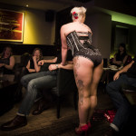Liberty Pink performing at Goodtime Mama Jo King's Goodtime Cabhooray burlesque show at Blind Bee in London, April, 10, 2015