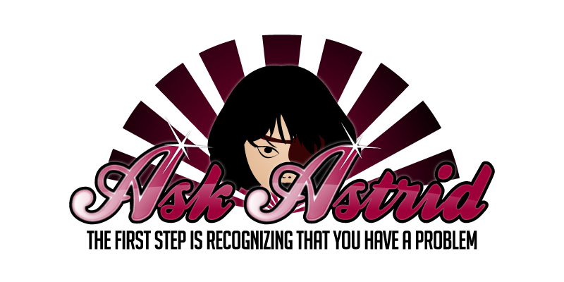 Ask Astrid, burlesque emcee Miss Astrid's advice column logo