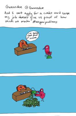 #StripperProblems comic strip