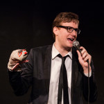 Bastard Keith performing at the 2015 Burlesque Blitz Muppet Burlesque Show at the Kraine Theater, New York