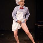 Petite Renard performing at the 2015 Burlesque Blitz Muppet Burlesque Show at the Kraine Theater, New York