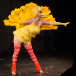 Boo Bess performing at the 2015 Burlesque Blitz Muppet Burlesque Show at the Kraine Theater, New York