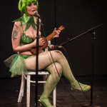 Plucky Charms performing at the 2015 Burlesque Blitz Muppet Burlesque Show at the Kraine Theater, New York
