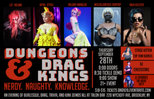Dungeons and Drag Kings @ Talon Bar | New York | United States