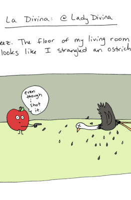 #StripperProblems No.13 - Comic Strip - Ostrich